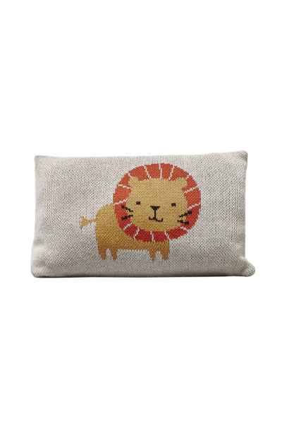 fabliek lion knitted pillow