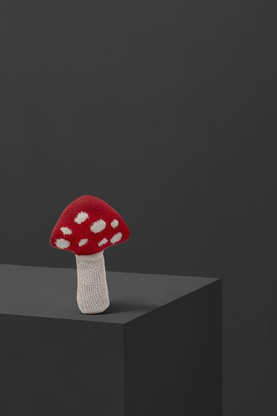 fabliek mushroom rattle knitted toy