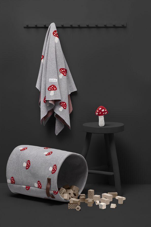 fabliek mushroom toadstool knitted set