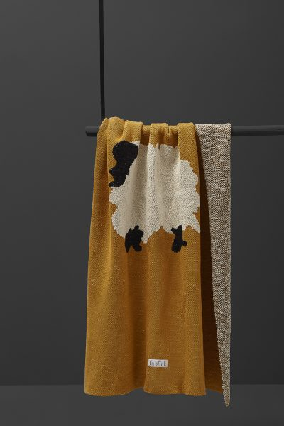 fabliek sheep abstract knitted blanket