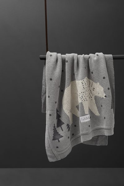 fabliek ursa major bear knitted blanket