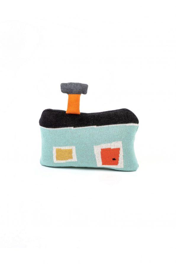 dziana bawełniana żakardowa zabawka poduszka przytulanka domek