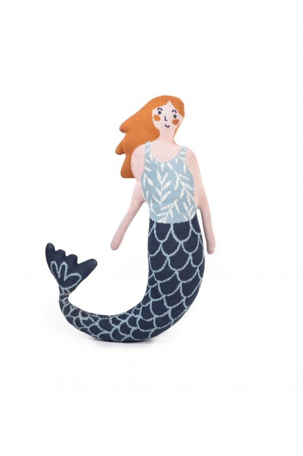 mermaid knitted jacquard cotton toy