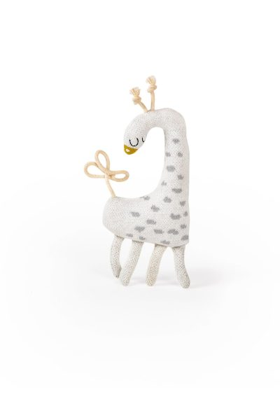giraffe knitted jacquard cotton toy