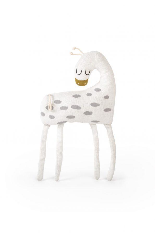 dziana bawełniana żakardowa zabawka poduszka przytulanka żyrafa