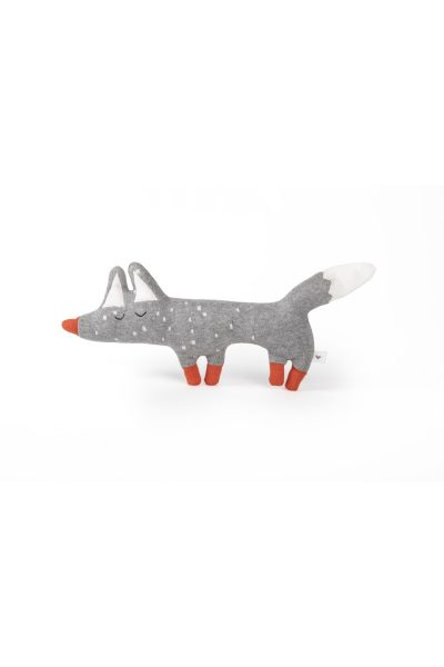 fabliek fox knitted toy cotton jacquard