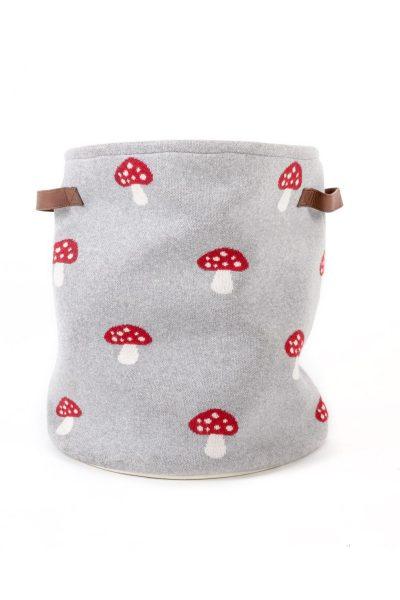 fabliek mushroom knitted basket