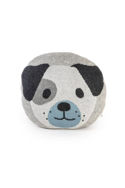 cotton knitted` jacquard pillow toy