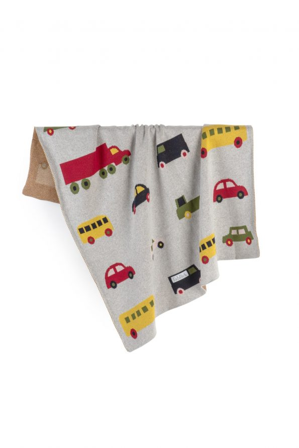 cotton knitted jacquard blanket cars