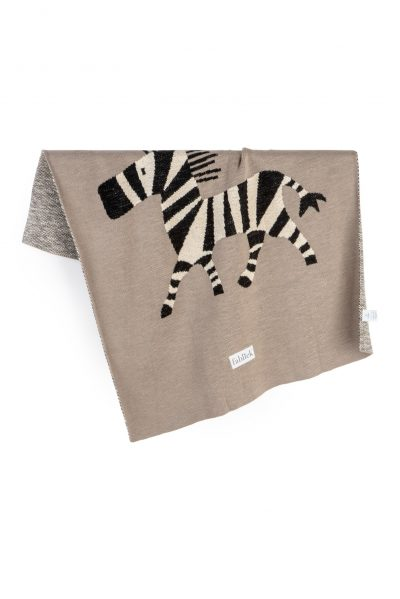 cotton knitted jacquard blanket zebra