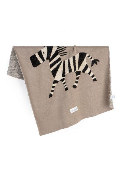 cotton knitted jacquard blanket zebra